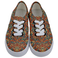 Multicolored Abstract Ornate Pattern Kids  Classic Low Top Sneakers