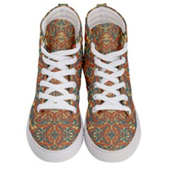 Multicolored Abstract Ornate Pattern Women s Hi Top Skate Sneakers