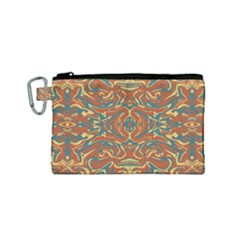Multicolored Abstract Ornate Pattern Canvas Cosmetic Bag (small)