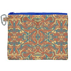 Multicolored Abstract Ornate Pattern Canvas Cosmetic Bag (xxl)
