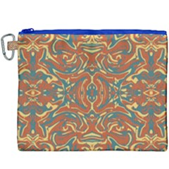 Multicolored Abstract Ornate Pattern Canvas Cosmetic Bag (xxxl)