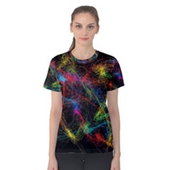 Background Light Glow Abstract Art Women s Cotton Tee
