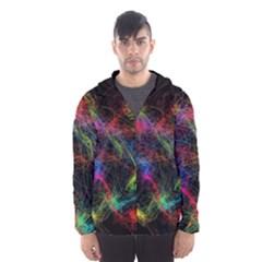 Background Light Glow Abstract Art Hooded Wind Breaker (men)