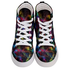 Background Light Glow Abstract Art Women s Hi Top Skate Sneakers