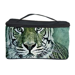Tiger Cat Art Abstract Vintage Cosmetic Storage Case