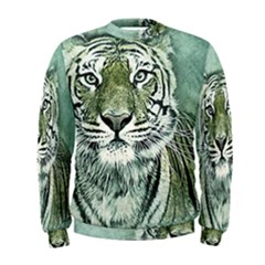 Tiger Cat Art Abstract Vintage Men s Sweatshirt