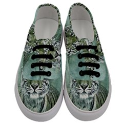 Tiger Cat Art Abstract Vintage Men s Classic Low Top Sneakers