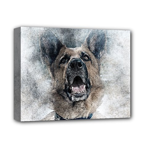 Dog Pet Art Abstract Vintage Deluxe Canvas 14  X 11