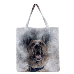 Dog Pet Art Abstract Vintage Grocery Tote Bag
