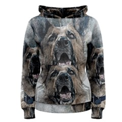 Dog Pet Art Abstract Vintage Women s Pullover Hoodie