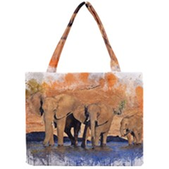 Elephants Animal Art Abstract Mini Tote Bag