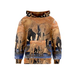 Elephants Animal Art Abstract Kids  Pullover Hoodie