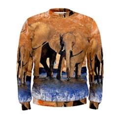 Elephants Animal Art Abstract Men s Sweatshirt