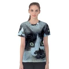 Cat Pet Art Abstract Vintage Women s Sport Mesh Tee