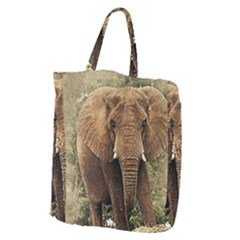 Elephant Animal Art Abstract Giant Grocery Zipper Tote