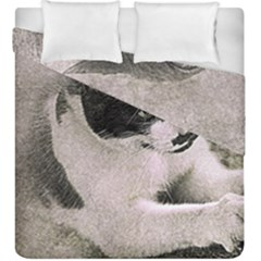 Cat Pet Art Abstract Vintage Duvet Cover Double Side (king Size)