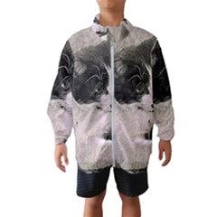 Cat Pet Art Abstract Vintage Wind Breaker (kids)