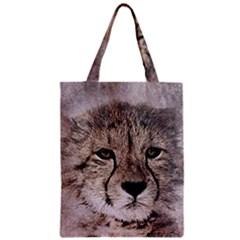 Leopard Art Abstract Vintage Baby Zipper Classic Tote Bag