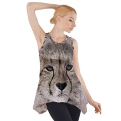 Leopard Art Abstract Vintage Baby Side Drop Tank Tunic