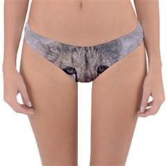 Leopard Art Abstract Vintage Baby Reversible Hipster Bikini Bottoms