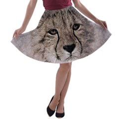 Leopard Art Abstract Vintage Baby A Line Skater Skirt