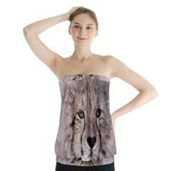 Leopard Art Abstract Vintage Baby Strapless Top