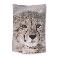 Leopard Art Abstract Vintage Baby Small Tapestry