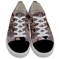 Leopard Art Abstract Vintage Baby Women s Low Top Canvas Sneakers