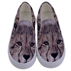 Leopard Art Abstract Vintage Baby Kids  Canvas Slip Ons