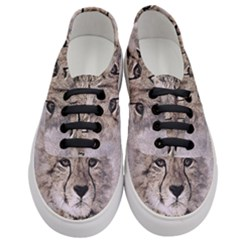 Leopard Art Abstract Vintage Baby Women s Classic Low Top Sneakers