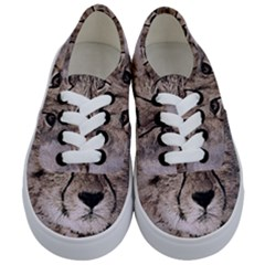 Leopard Art Abstract Vintage Baby Kids  Classic Low Top Sneakers