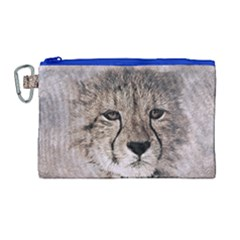 Leopard Art Abstract Vintage Baby Canvas Cosmetic Bag (large)