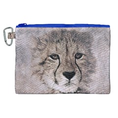 Leopard Art Abstract Vintage Baby Canvas Cosmetic Bag (xl)