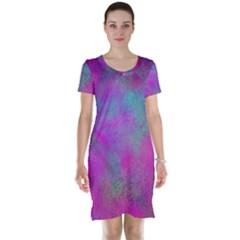 Background Texture Structure Short Sleeve Nightdress