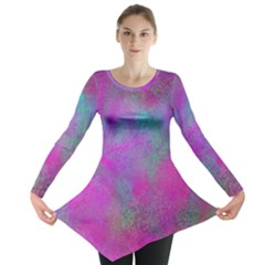 Background Texture Structure Long Sleeve Tunic