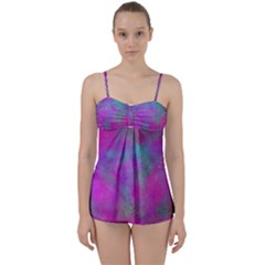 Background Texture Structure Babydoll Tankini Set