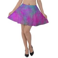 Background Texture Structure Velvet Skater Skirt