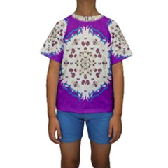 Eyes Looking For The Finest In Life As Calm Love Kids  Short Sleeve Swimwear