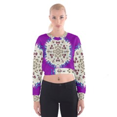 Eyes Looking For The Finest In Life As Calm Love Cropped Sweatshirt