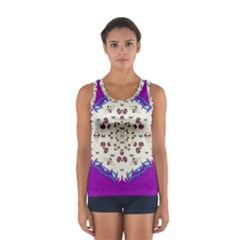Eyes Looking For The Finest In Life As Calm Love Sport Tank Top