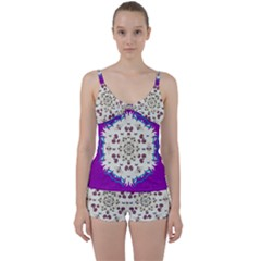 Eyes Looking For The Finest In Life As Calm Love Tie Front Two Piece Tankini