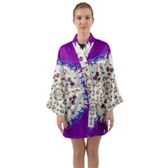 Eyes Looking For The Finest In Life As Calm Love Long Sleeve Kimono Robe