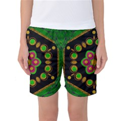 Magic Of Life A Orchid Mandala So Bright Women s Basketball Shorts
