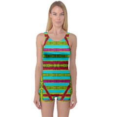 Gift Wrappers For Body And Soul One Piece Boyleg Swimsuit