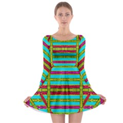 Gift Wrappers For Body And Soul Long Sleeve Skater Dress