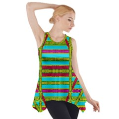 Gift Wrappers For Body And Soul Side Drop Tank Tunic