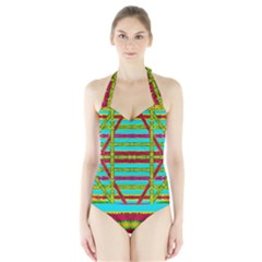 Gift Wrappers For Body And Soul Halter Swimsuit
