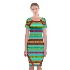Gift Wrappers For Body And Soul Classic Short Sleeve Midi Dress