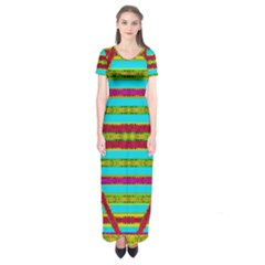 Gift Wrappers For Body And Soul Short Sleeve Maxi Dress