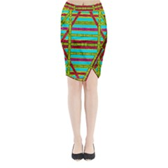 Gift Wrappers For Body And Soul Midi Wrap Pencil Skirt